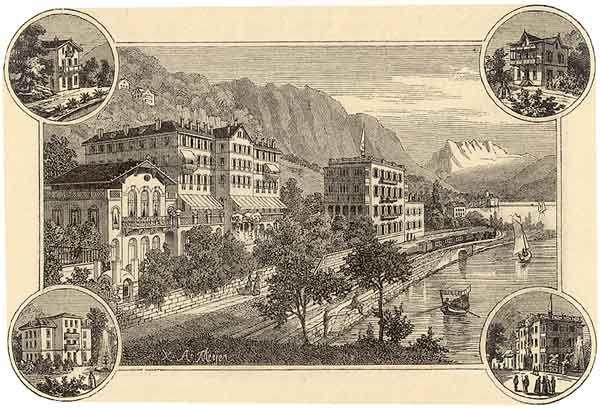 L'Hôtel des Alpes à Territet